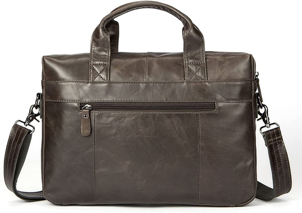 Zhuhaitf Mens First Cowhide Leather Crossbody Business Shoulder Bag Briefcase