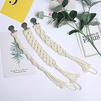 GUO Schnullerband 1St Vintage Geh/äkelte Baumwolle Schnullerkette Kette Schnullerclip DIY Bei/ßspielzeug