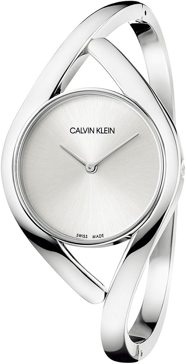 Calvin Klein Reloj Analógico para Mujer de Cuarzo con Correa en Acero Inoxidable K8U2M116