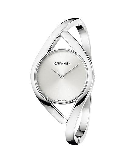 Calvin Klein Reloj Analógico para Mujer de Cuarzo con Correa en Acero Inoxidable K8U2S116: Amazon.es: Relojes