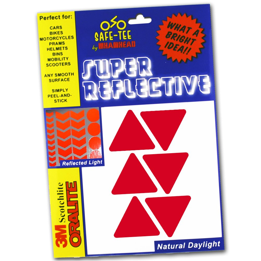 Reflects as White Safe-Tee Reflective BLACK TRIANGLE Safety Stickers