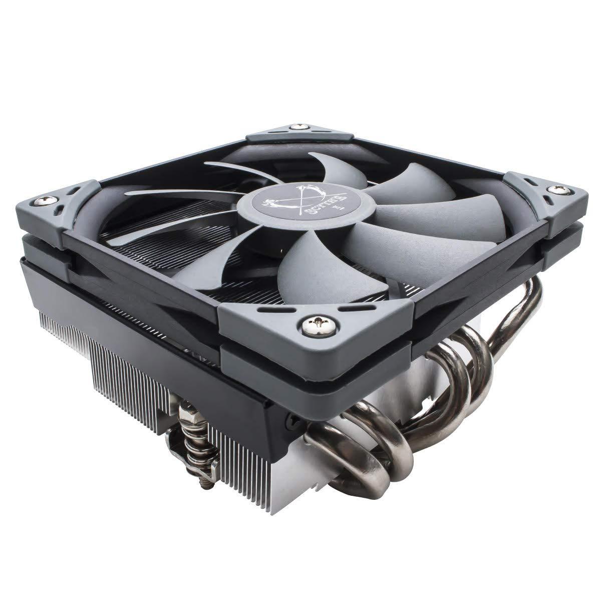 Scythe Big Shuriken 3 Low Profile 120mm Air CPU Cooler, Slim PWM Fan with 5 Heatpipe Heatsink, for Mini ITX Case, Intel LGA1151, AMD AM4/Ryzen by SCYTHE