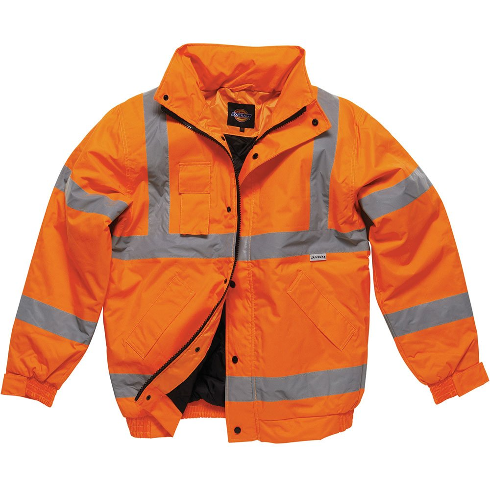 Dickies Hi-Vis Bomber Jacket, Yellow, X-Large SA22050 OR XL
