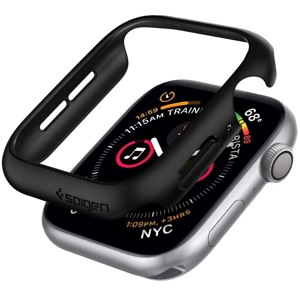 Spigen Thin Fit Designed for Apple Watch Case for 40mm Series 5 / Series 4 - Black by Spigen