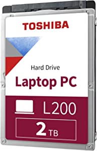 "Toshiba HDWL120XZSTA L200 2TB Laptop PC Internal Hard Drive 5400 RPM SATA 6Gb/s 128 MB Cache 2.5"" 9.5mm Height - 2000 Internal Bare/OEM Drive"