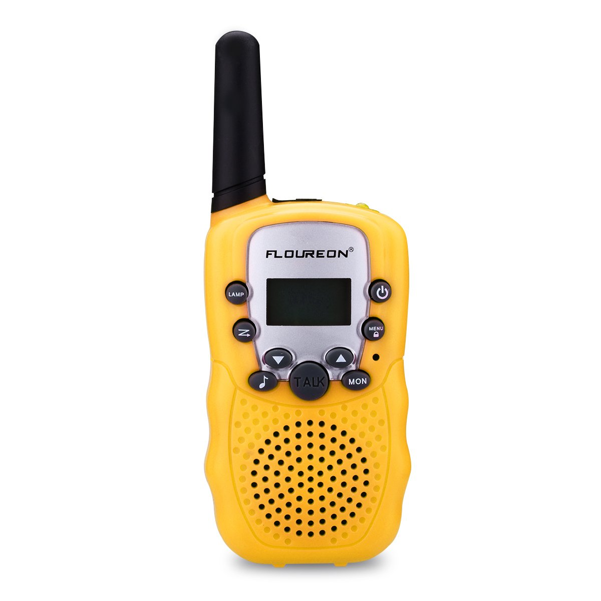 FLOUREON Kids Toy Walkie Talkies Two Way Radios Walky Talky 22 Channel Long Range UHF Handheld Outdoor Kids Toy Cellphone for Children Day/Birthday (Yellow)