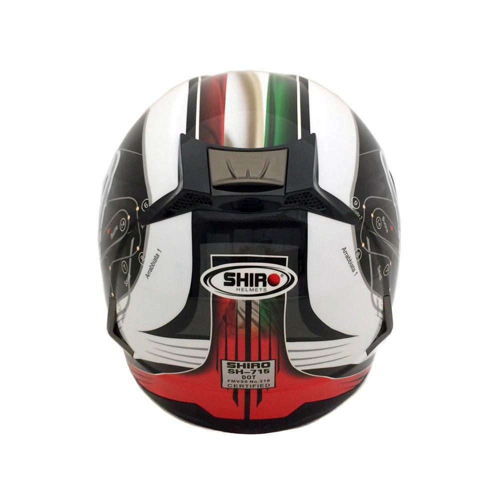 Full-Face Helmet with Dual Visor - Street Legal DOT Approved -Mugello Powersports Helmets LARGE