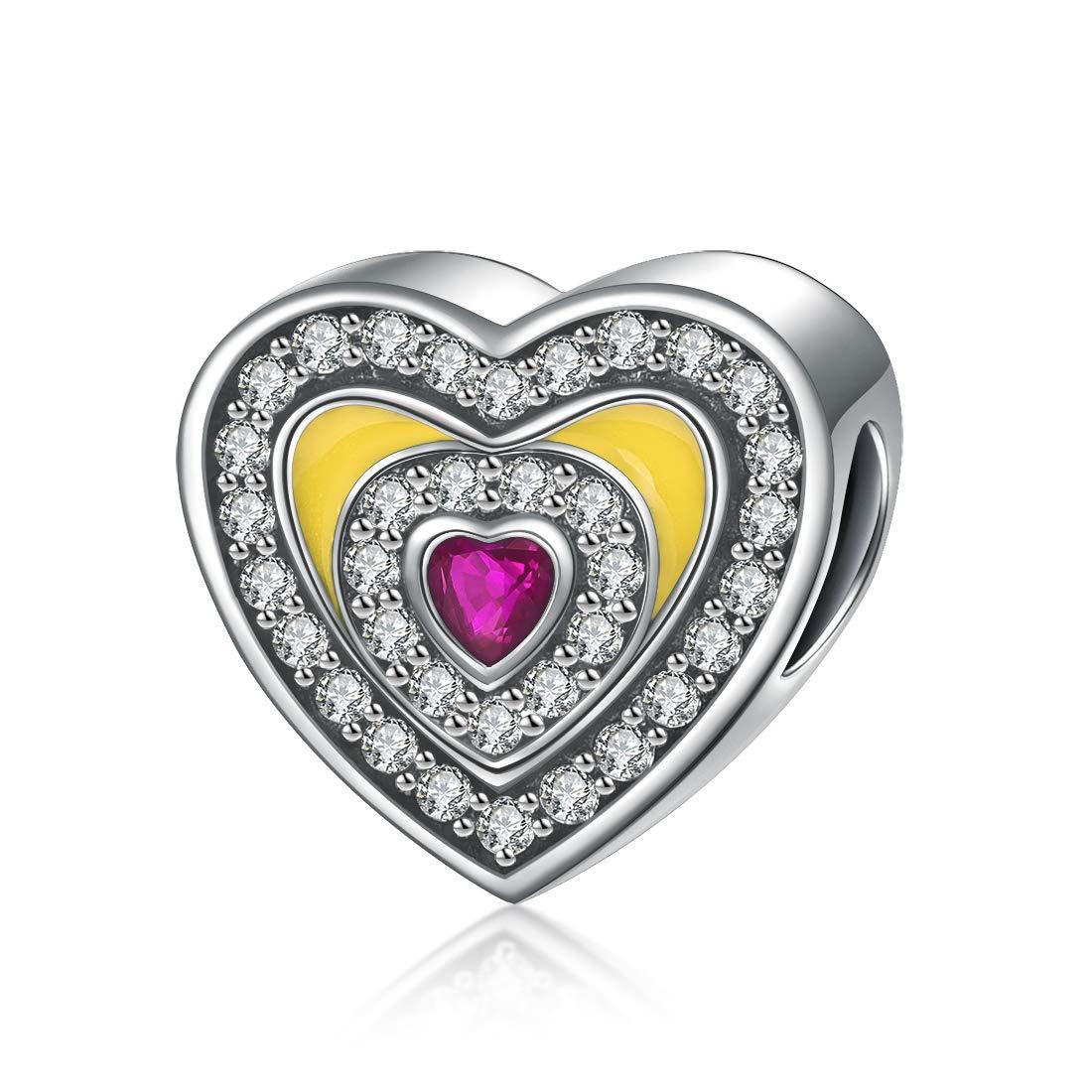 DALARAN 925 Sterling Silber Liebe Perlen Frauen Feine Schmuck Geschenke Anhänger