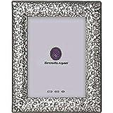 FIRENZE fine Italian sterling silver frame w/tooled floral handwork by Zaramella® - 5x7