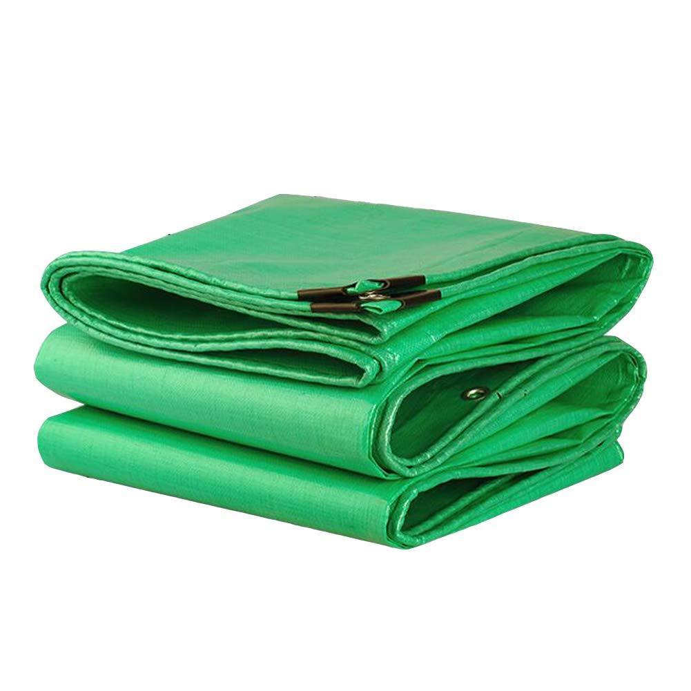 DALL ターポリン タープ 両面 防水 耐寒性 絶縁 防塵 アウトドア 180g / m2 (色 : Green, サイズ さいず : 4*8m) 4*8m Green B07KRV8PD6