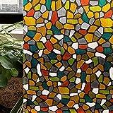 CottonColors Premium No-Glue 3D Static Decorative Privacy Window Films, 35.4In X 78.7In.(90 x 200Cm)