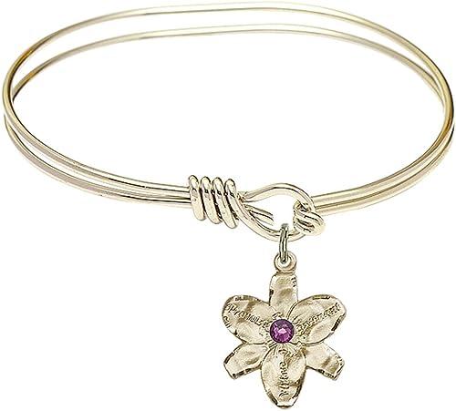 Chastity Charm On A Child Sized 5 3//4 Inch Oval Eye Hook Bangle Bracelet