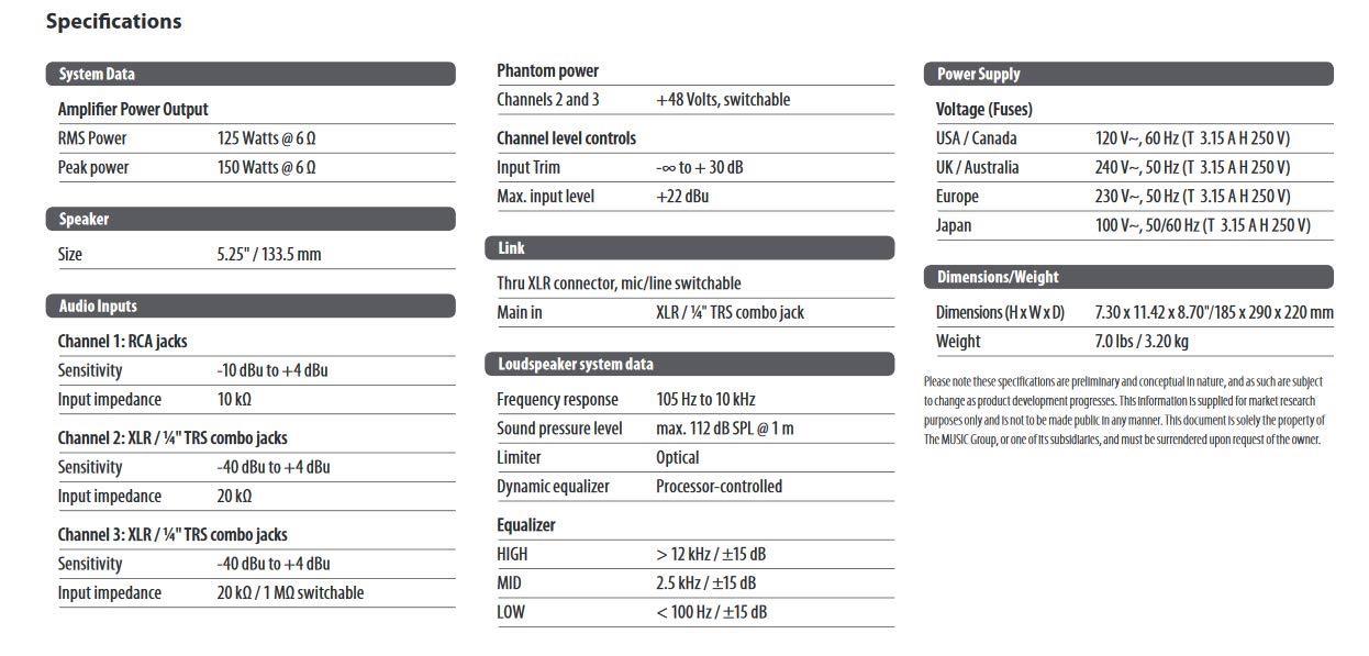 Behringer Eurolive B205D Ultra-Compact 150-Watt PA/Monitor Speaker System by Behringer (Image #7)