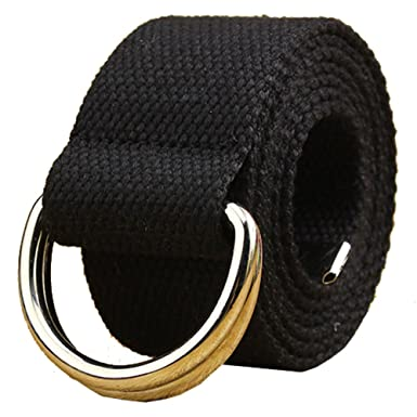 ae72a54fe Mens & Womens Canvas Belt with D-ring: Amazon.co.uk: Clothing