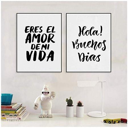 Poster su Tela Spagnolo Decorazioni per la casa Eres El Amor ...