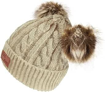 Amazon.com: Gorro de lana para bebé de color puro, gorro de ...