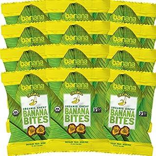 Organic Original Chewy Banana Bites - 1.4 Ounce (12 Count) - Delicious Barnana Potassium Rich Banana Snacks - Lunch Dinner Sports Hiking Natural Snack - Whole 30, Paleo, Vegan