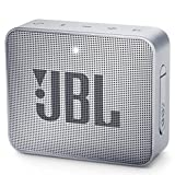 JBL GO 2 Portable Bluetooth Waterproof Speaker, grey, 4.3 x 4.5 x 1.5