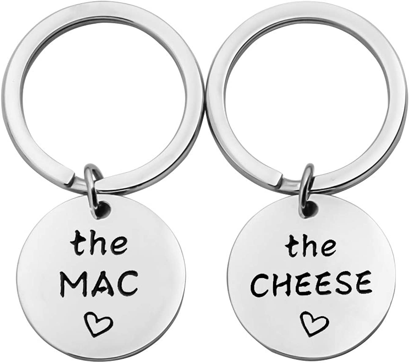 SEIRAA The Mac The Cheese Keychain Food Jewelry Couple Gift Macaroni And Cheese Jewelry Best Friend Gift