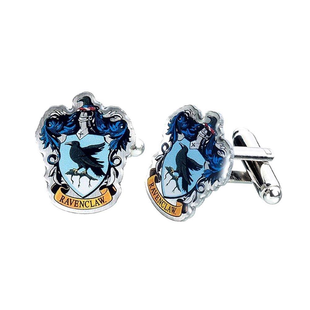 Offizieller Harry Potter Hogwarts Ravenclaw Wappen Silber vergoldete Manschettenkn/öpfe Boxed