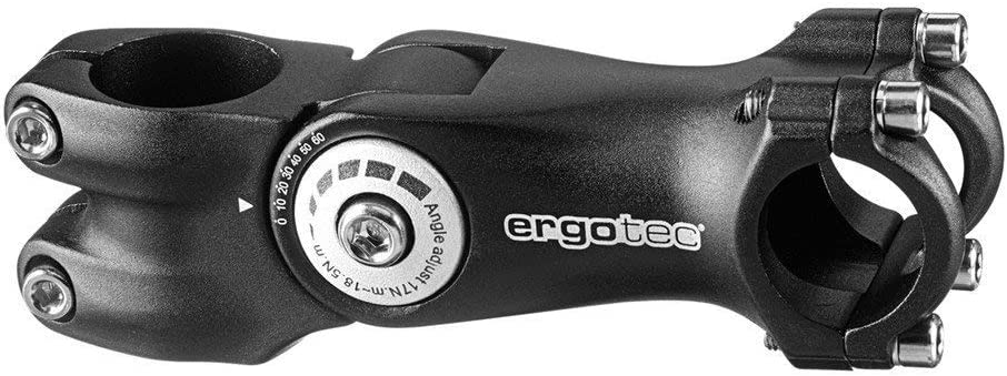 Bike Quill Stem Ergotec Octopus 2 Adjustable 31.8mm Black