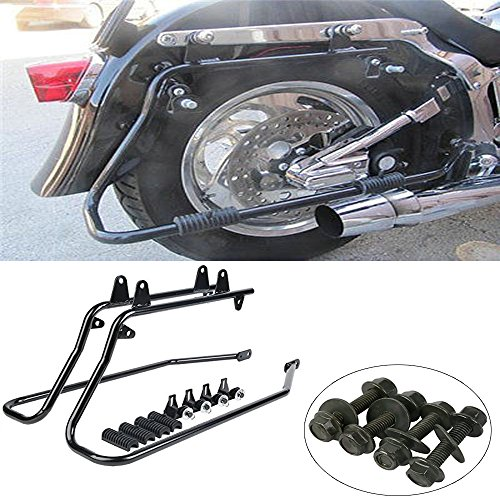XMT-MOTO Saddlebag Saddle bag Conversion Brackets For 1986-2013 Harley Heritage Softail (Fender Kit Conversion)