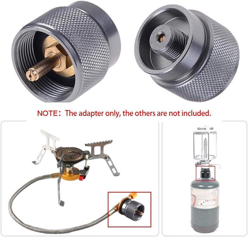 Adaptador de Tanque de Gas peque/ño de 1 LB Adaptador de Estufa de Gas para Camping Conector del Cabezal de conversi/ón para cocinar al Aire Libre