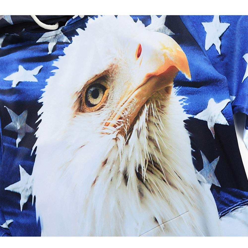 YUVUMVS Otoño Fashoin American Eagle Bandera con Capucha Sudadera Hombre Primavera con cordón Sudaderas con Capucha Svitshot Jersey con Capucha: Amazon.es: ...