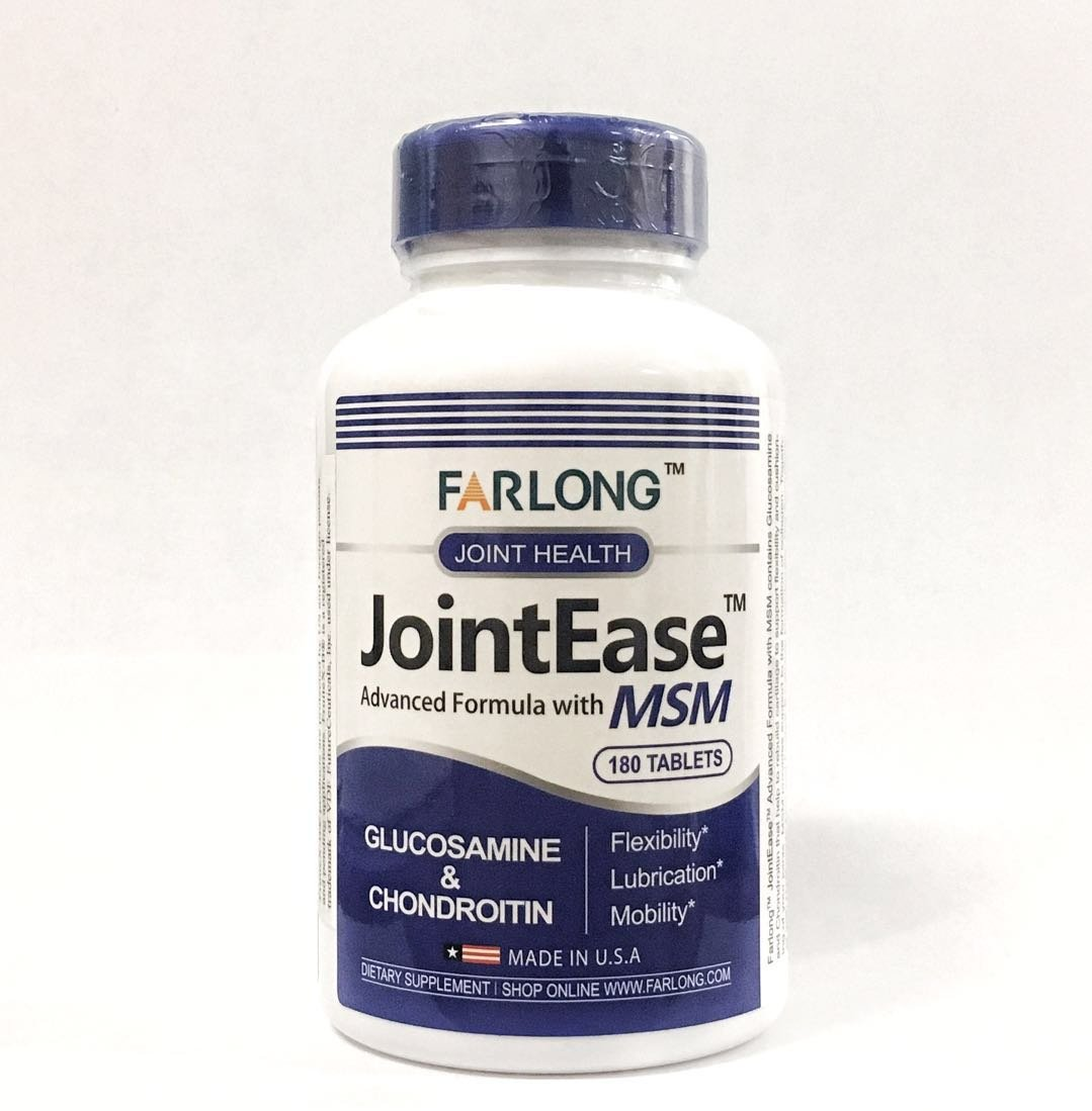 Farlong JointEase Advanced Formula with MSM 180 Tablets, Glucosamine & Chondroitin