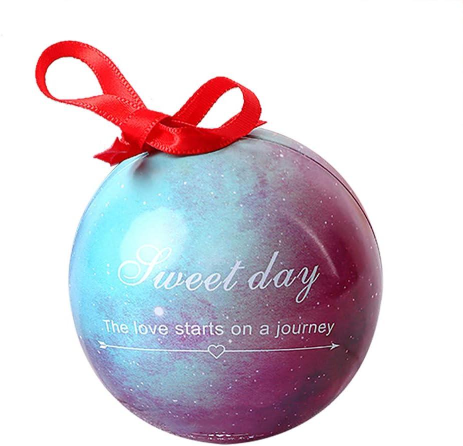 Lazeny 25x Cielo Estrellado Bola de Elfo Caja de Dulces Creativo Esférico Caja de Regalo de Joyería para Boda Fiesta de Cumpleaños Graduación Día de la Ducha del Bebé Bautismo Navidad Decoración