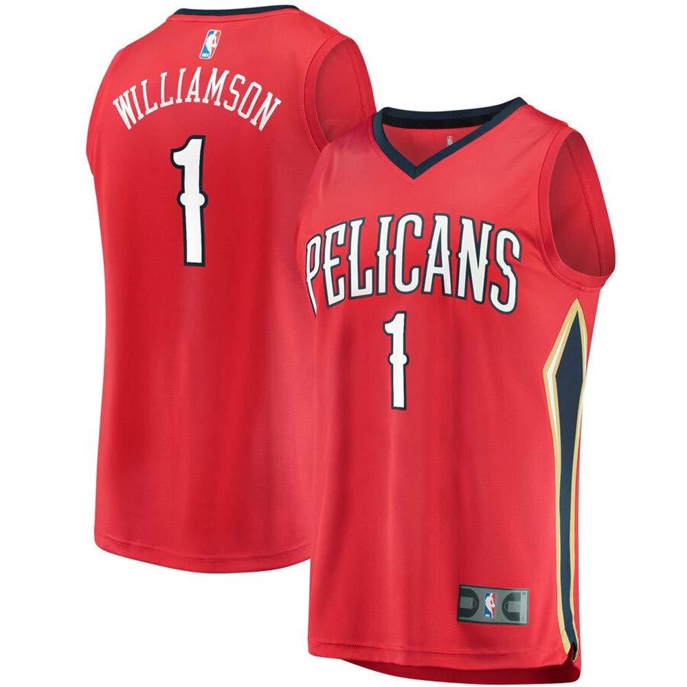 Statement Edition Mens New Orleans Pelicans #1 Zion Williamson Red 2019 Draft First Round Pick Fast Break Jersey