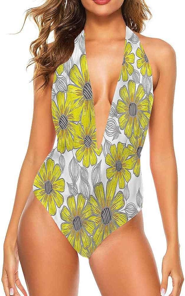 Adorise Vêtements de plage pour femme Jaune et marron Motifs hippie Folk Idéal pour la piscine Multi 20