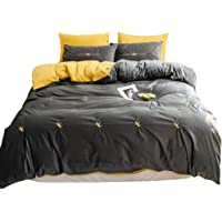 GHAOSAN Luxury Bedding 4 Pcs/Set (1 Fitted Sheet & 2 Pillowcases & 1 Quilt Cover) For Badroom