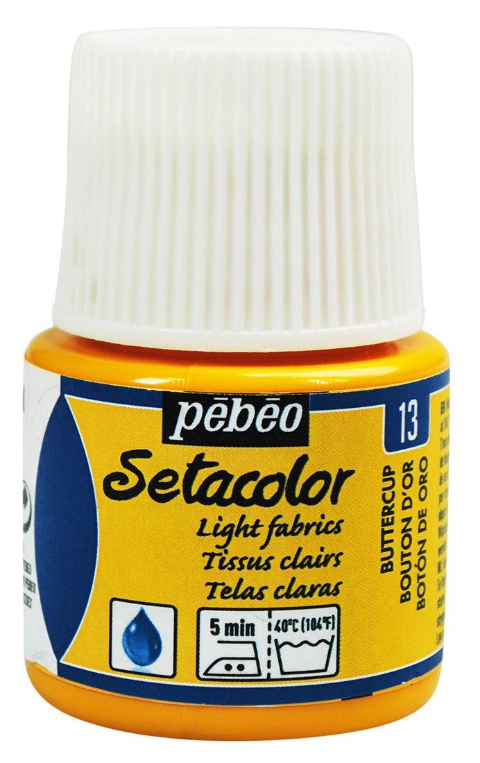 Pebeo Setacolor Light Fabric Paint 45-Milliliter Bottle, Butter Cup,Butter cup 329-013