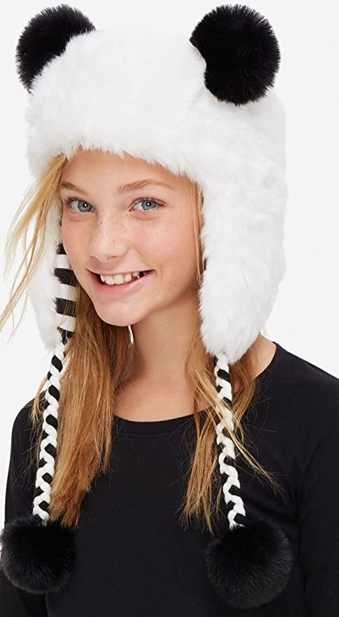 Amazon.com   JUSTICE BEANIE PANDA WINTER HAT BLACK AND WHITE   Everything  Else 44a14d08f11