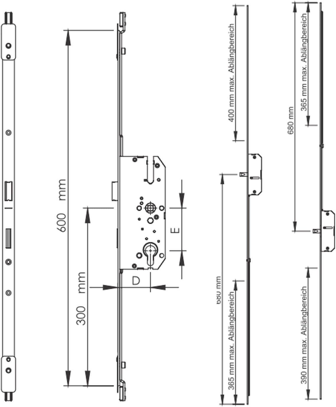 ToniTec TT-MFV-302B Reparatur Mehrfachverriegelung Nebenschloss Hauptschloss Bolzenriegel
