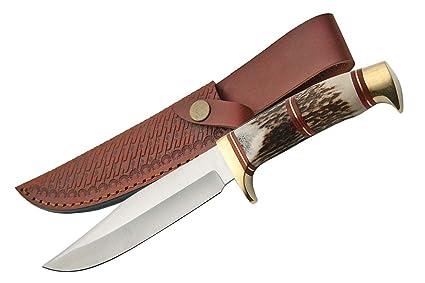 Amazon.com: szco Suministros acero Cuchillo de caza, diseño ...