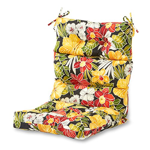 Greendale Home Fashions Indoor/Outdoor High Back Chair Cushion, Aloha (Aloha Lounge)