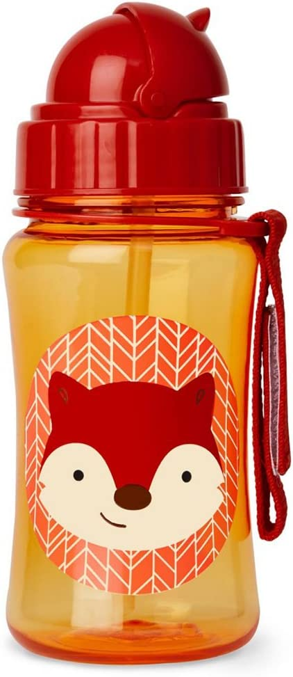 Skip Hop - Botella con bombilla, Ferguson Fox, 150 ml