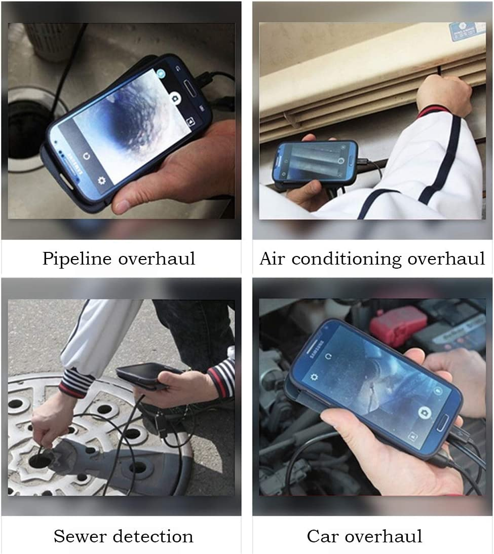 SSCJ 5.5mm Android Endoscope Periscope USB C Inspection Camera 3.5m Waterproof Tube Camera for Smartphone Tablet with OTG PC and Laptop