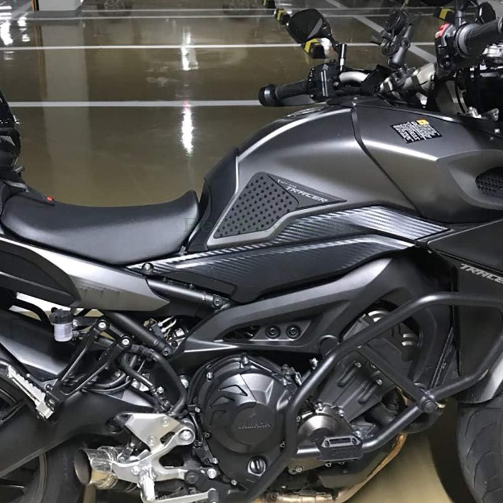 DEALPEAK 2Pcs Motorcycle Anti-Slip Gas Tank Traction Pads Knee Grip Sticker for Yamaha MT-09 FZ-09 2014-2016