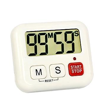 Compra Szaerfa Cocinar 99 Minuto Reloj de cocina Reloj digital LCD Calculadora Deporte Cuenta atrás en Amazon.es