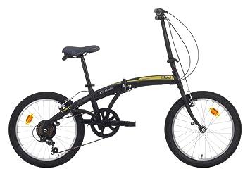 Bicicleta plegable C-Fold de acero 20 pulgadas con cambio SHIMANO 6 V Negro/