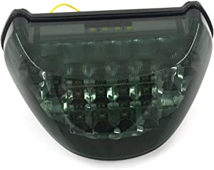 JFG RACING LED Rear Brake Turn Signal Tail Light Taillight For Kawasaki Ninja ZX12R 2000-2005
