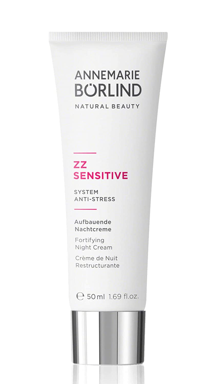ANNEMARIE BÖRLIND – ZZ SENSITIVE Fortifying Night Cream – Sustainably Sourced Natural Face Cream for Overnight Regeneration and Visibly Smoother Facial Skin – Step 4 of 5 - 1.69 Oz.