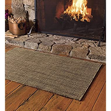 2' x 3'6'' Fire Resistant Dalton Hearth Rug, in Mocha