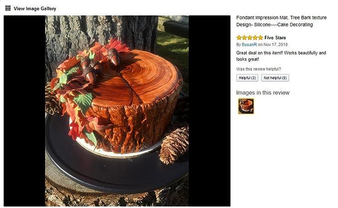 BESTONZON Fondant Impression Mat Baumrinde Textur Silikon Kuchen Formen Dekorieren Zubeh/ör f/ür Cupcake Hochzeitstorte Dekoration