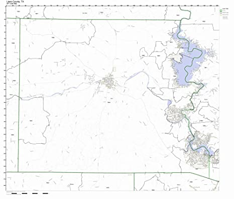 State Of Texas County Map.Amazon Com Llano County Texas Tx Zip Code Map Not Laminated Home
