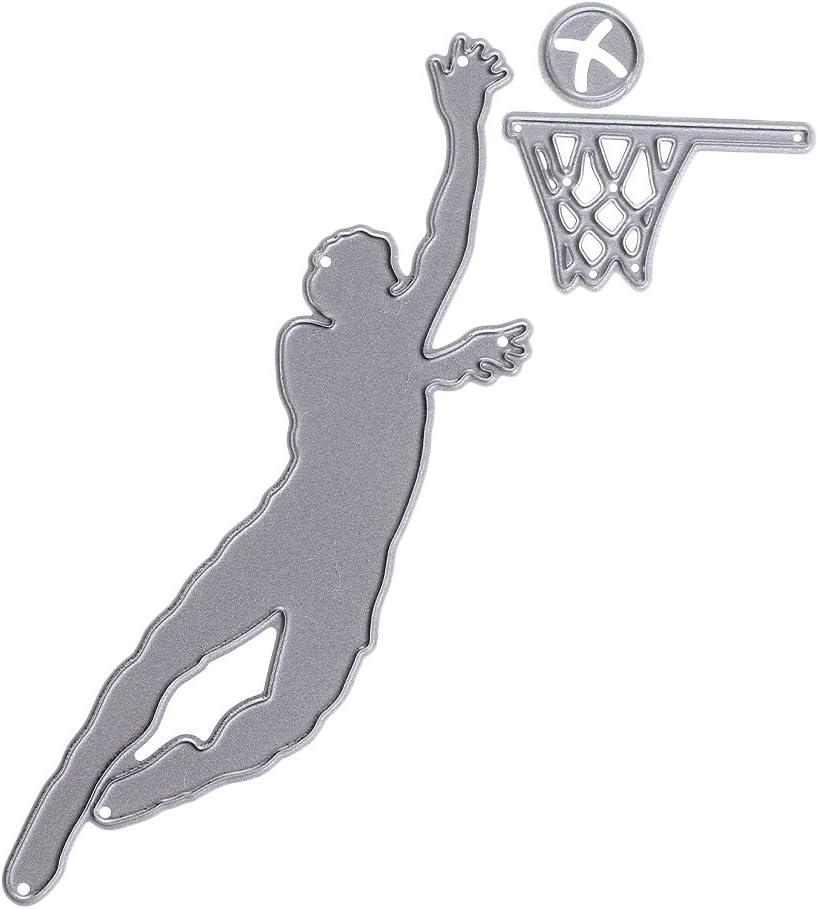 Basketball Rahmen Metall DIY Stanzformen Schablone Stanzmaschine Pr/ägeschablonen Fee Vintage Spiegel Form Stanzschablone Kreative Spielzeug