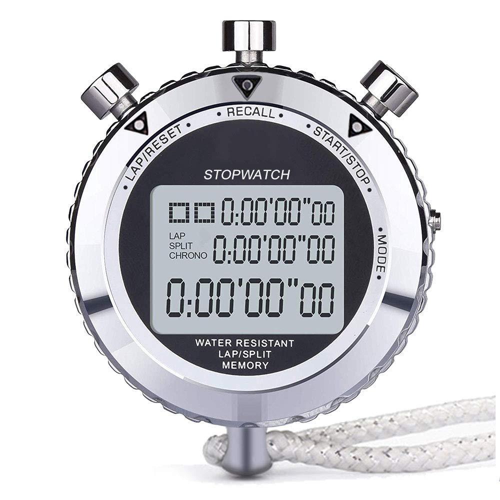 Cronómetro de Metal, cronógrafo Temporizador Digital 2 Pista y ...